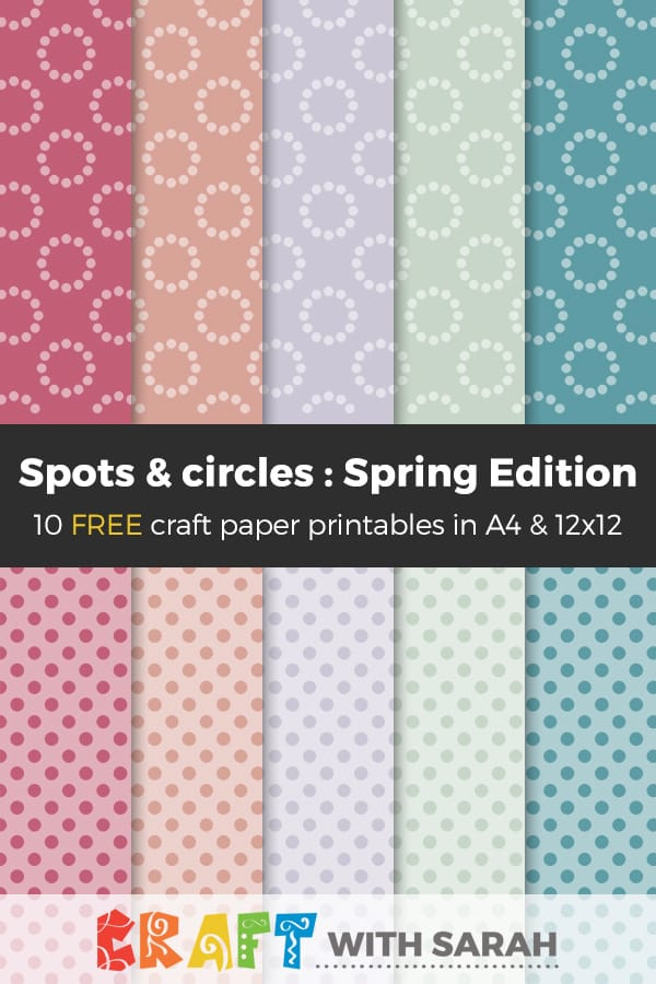 picture relating to Free Printable Backgrounds for Paper known as Absolutely free Craft Papers: Spring Model Sites Circles Craft
