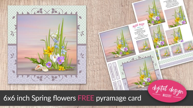 Free printable spring flowers pyramage card digital design mastery free printable spring flowers pyramage card mightylinksfo