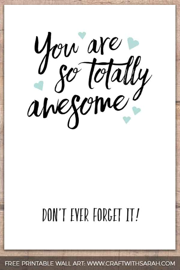 You are so totally awesome (don't ever forget it!)