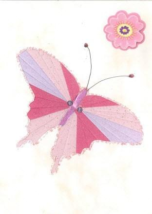 Butterfly iris folding pattern