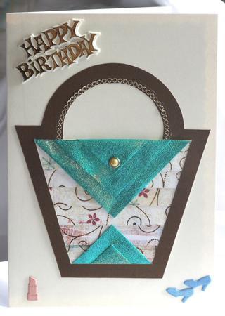 Handbag iris folding pattern