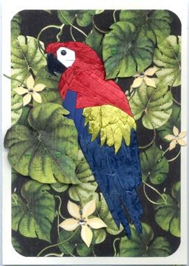 Parrot iris folding pattern