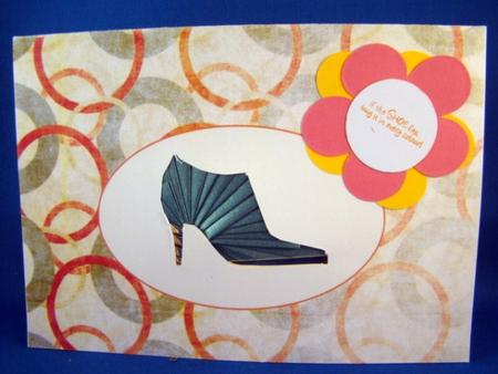 Shoe iris folding pattern