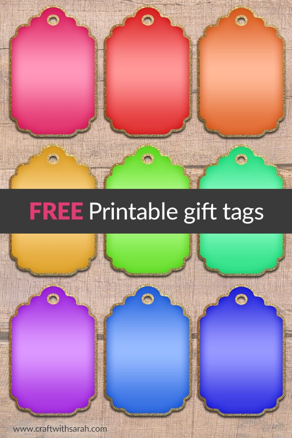 Free Printable: Glitter Gift Tags