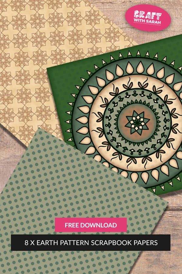 FREE Earth Mandala Scrapbook Papers