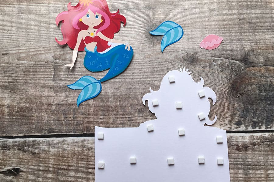 Mermaid decoupage