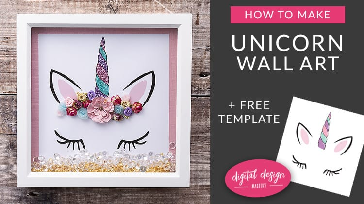 Unicorn wall art template with free printable