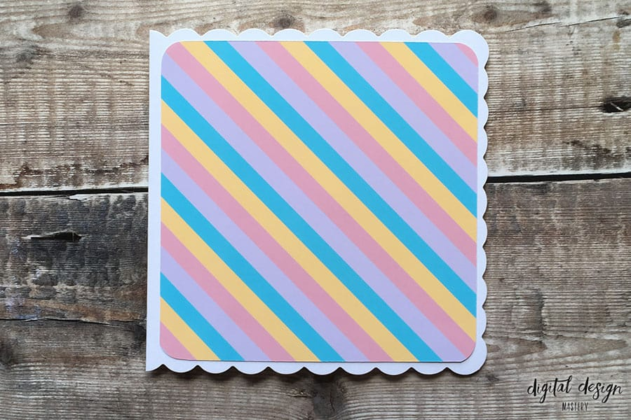 Pastel rainbow backing paper