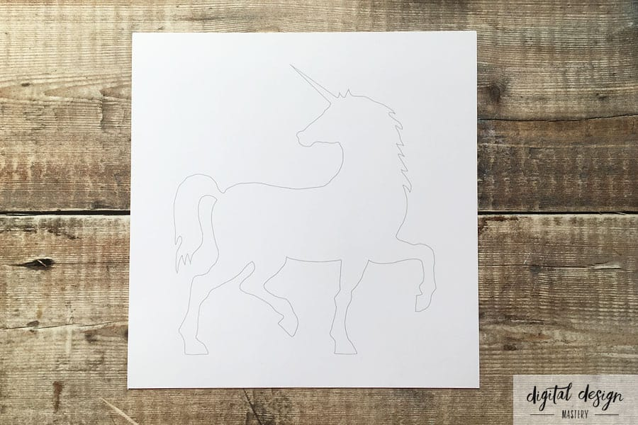 Unicorn silhouette printable