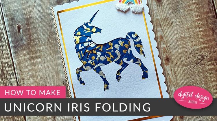Free iris folding unicorn pattern