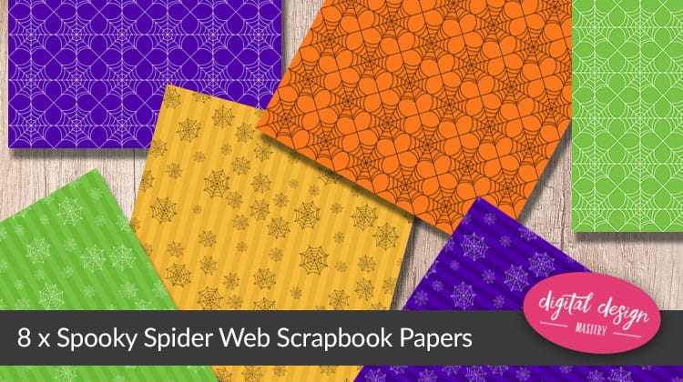 Spooky Spider Web Halloween Papers