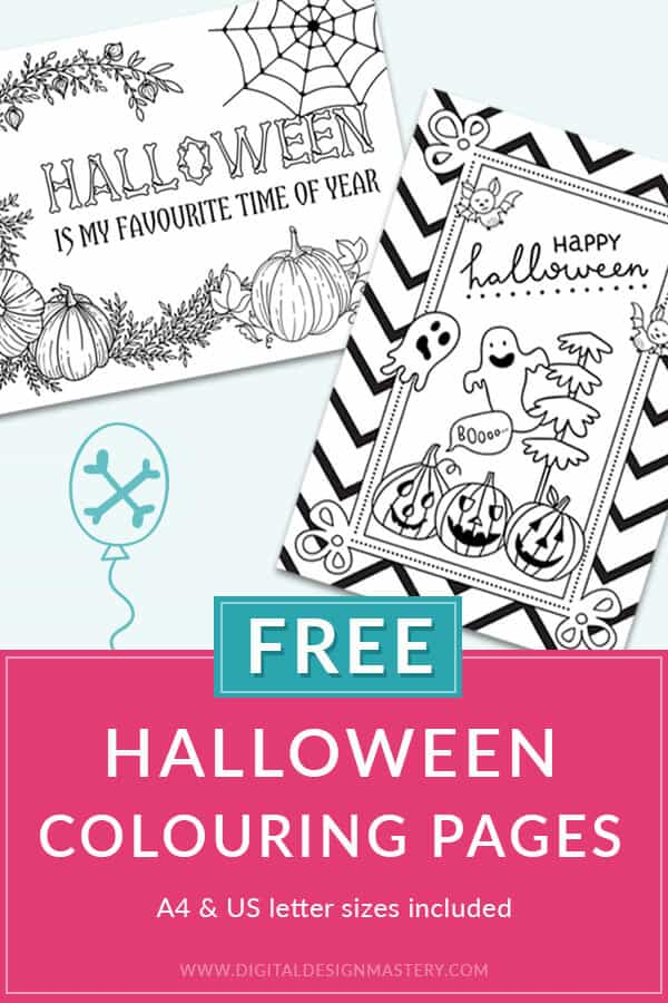 Free Halloween colouring pages for adults and teens. These spooky Halloween coloring papers are free to download so you can print them as many times as you want. Enjoy some relaxing adult colouring this Halloween with these free coloring printables.