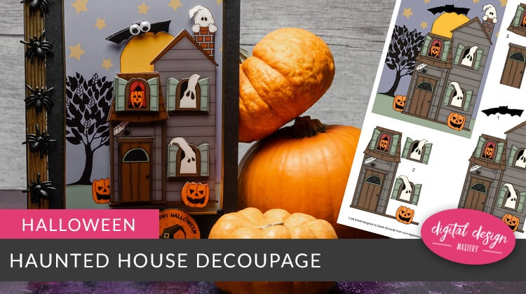 Have a spooky Halloween with this Haunted House card making project with free Halloween decoupage craft download. Happy Halloween!