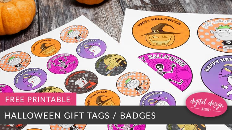 Free printable gift tags for Halloween.