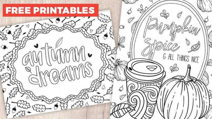 Pumpkin Spice Latte Coloring Pages