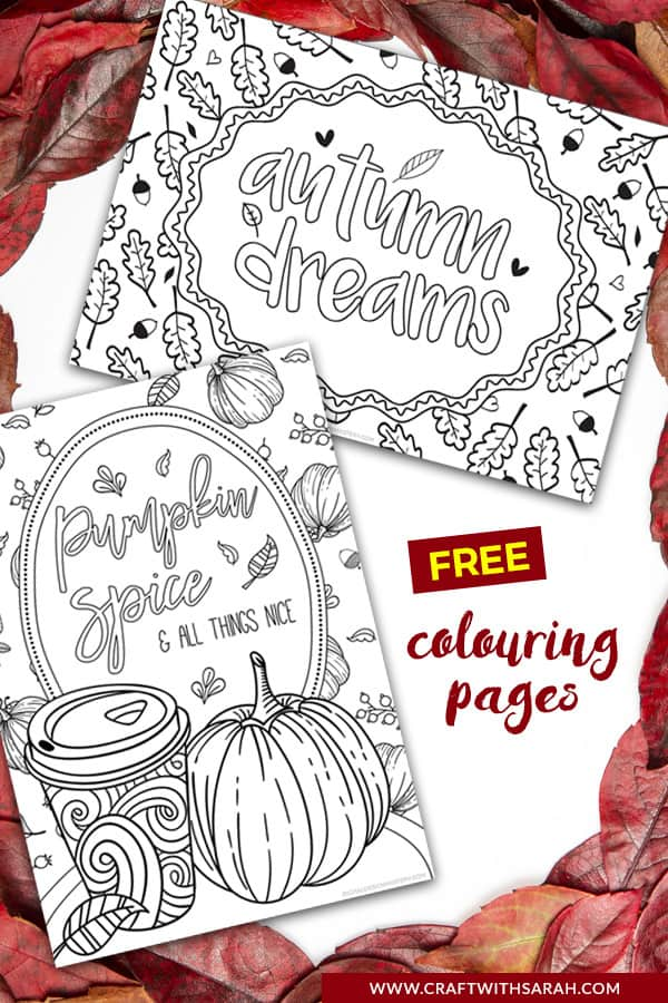 Pumpkin Spice Latte Colouring Pages