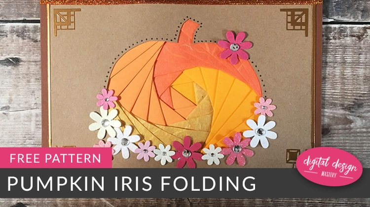 Free pumpkin iris folding pattern for autumn and Thanksgiving