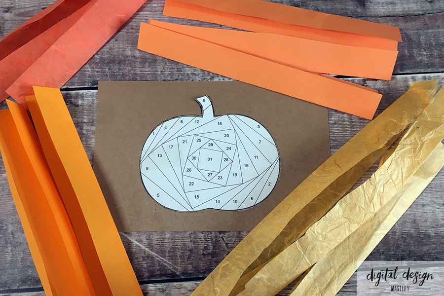 Pumpkin Iris Folding Tutorial: Step 3