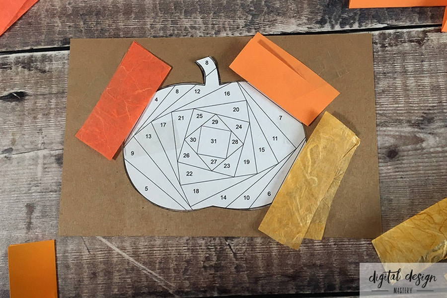 Pumpkin Iris Folding Tutorial: Step 4