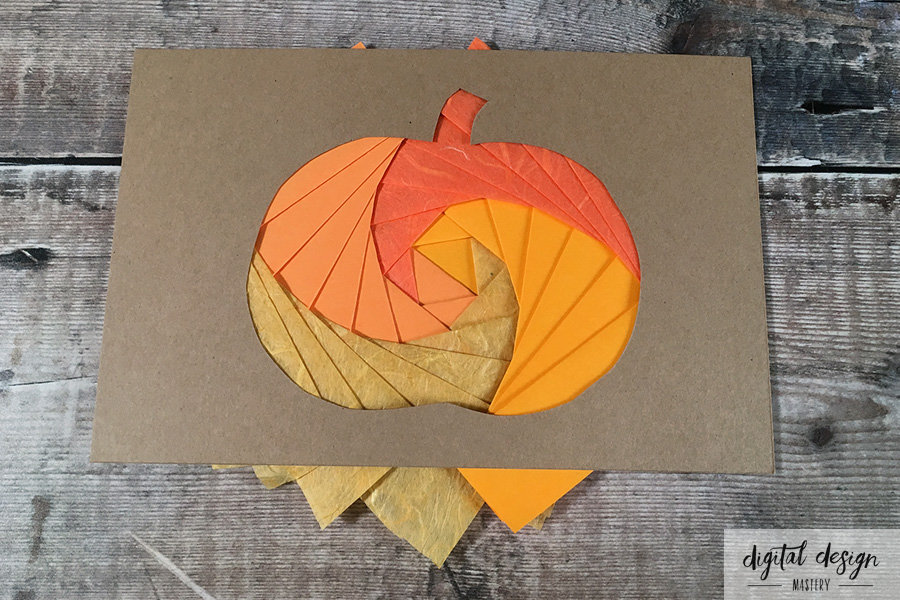 Pumpkin Iris Folding Tutorial: Step 6