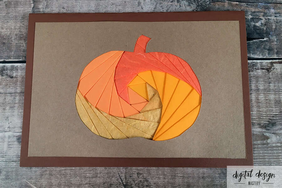 Pumpkin Iris Folding Tutorial: Step 8