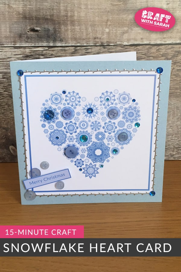 Handmade Snowflake Heart Quick Christmas Card