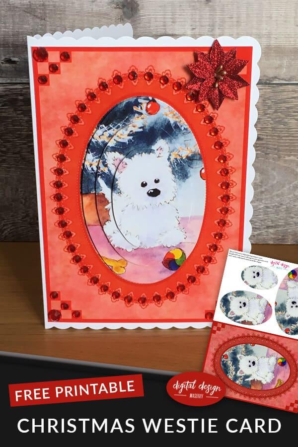 Westie Dog Christmas Card | Digital Design Mastery