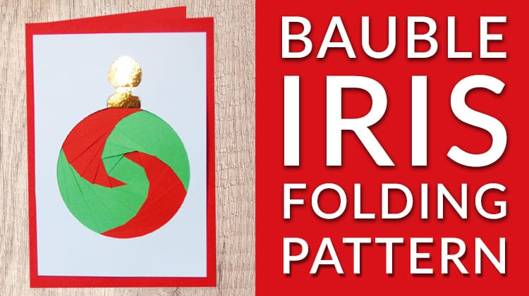 Free bauble iris folding pattern printable template