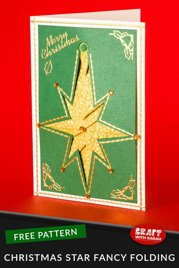 Christmas Star Fancy Folding Pattern