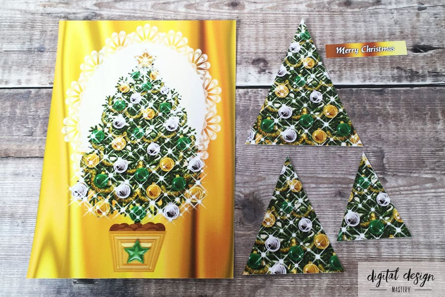Christmas Tree Card Making: Step 2: Cut out the elements