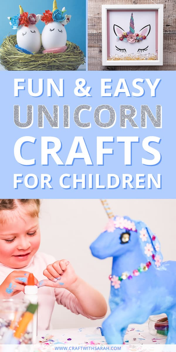 Fun easy unicorn crafts for children. Share the unicorn love with these easy unicorn craft projects for children. Unicorns are so popular and it's easy to see why - they are so majestic and magical. From DIY pencil pot holders to yummy milkshakes, wall art to finger puppets - find all your unicorn crafting inspiration here. #unicorn #unicorncrafts #unicorncraft