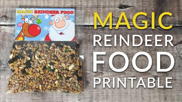Free magic reindeer food poem and printable