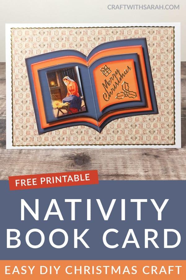 Nativity Scene Book Card