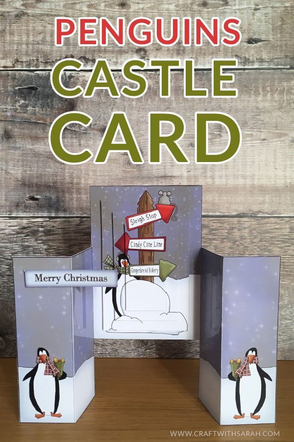3D Penguins Castle Card