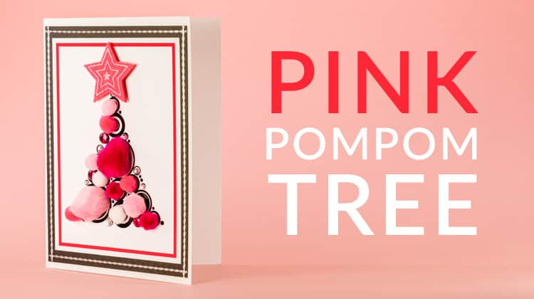 How to make a black and pink Christmas tree card