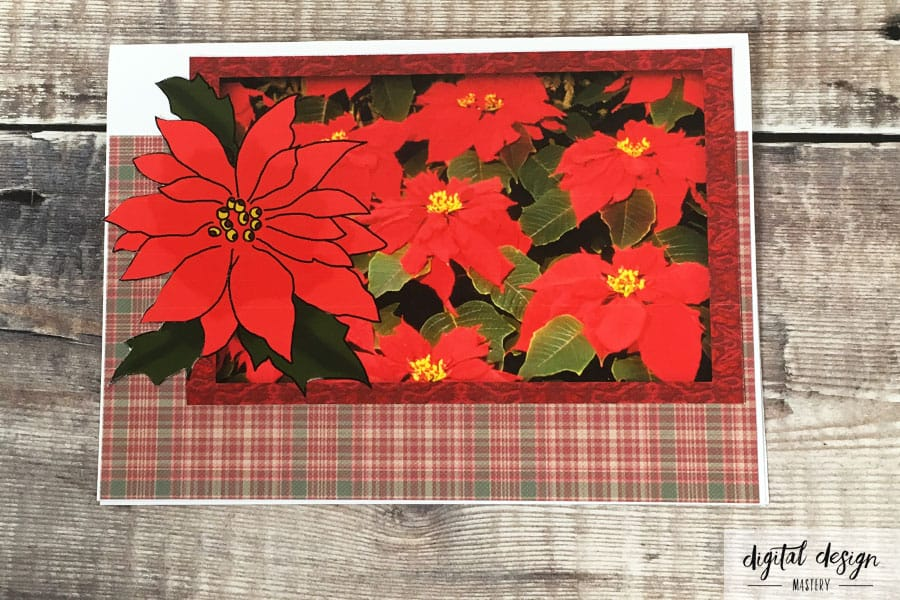 Christmas poinsettia Decoupage Tutorial