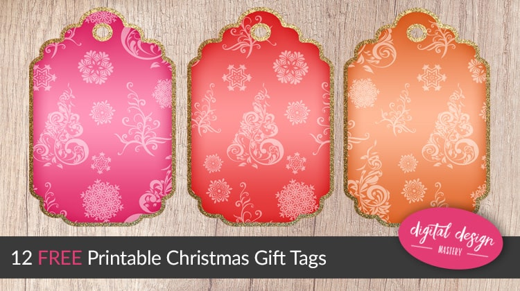 Free printable Christmas gift tags for your Christmas present wrapping