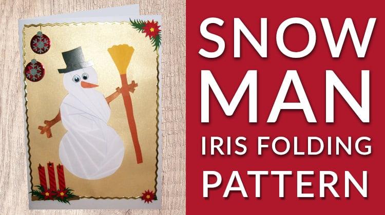 Free Christmas snowman iris folding pattern