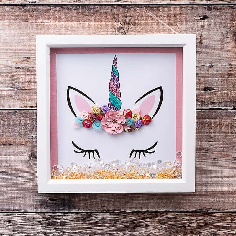 Unicorn crown wall art