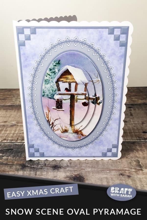 Watercolour Snow Scene Pyramage Card