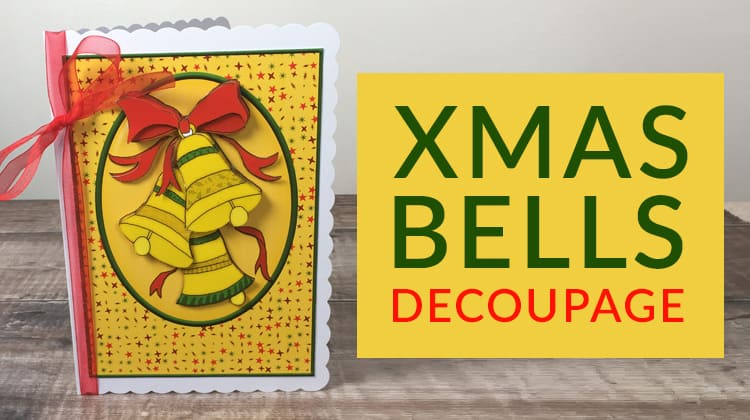 Free Christmas bells decoupage sheet for handmade Christmas cards