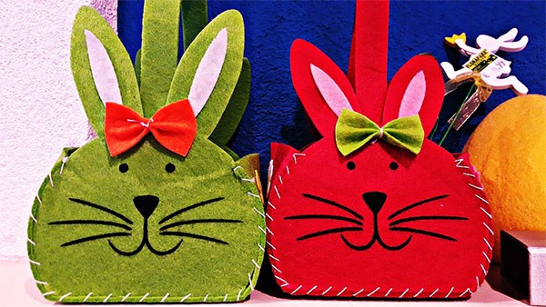 Easter bunny shaped baskets can be used to hold non-chocolate gifts this spring