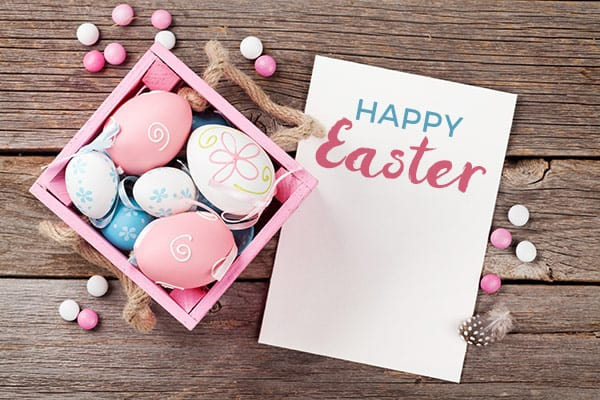 Happy Easter greetings card