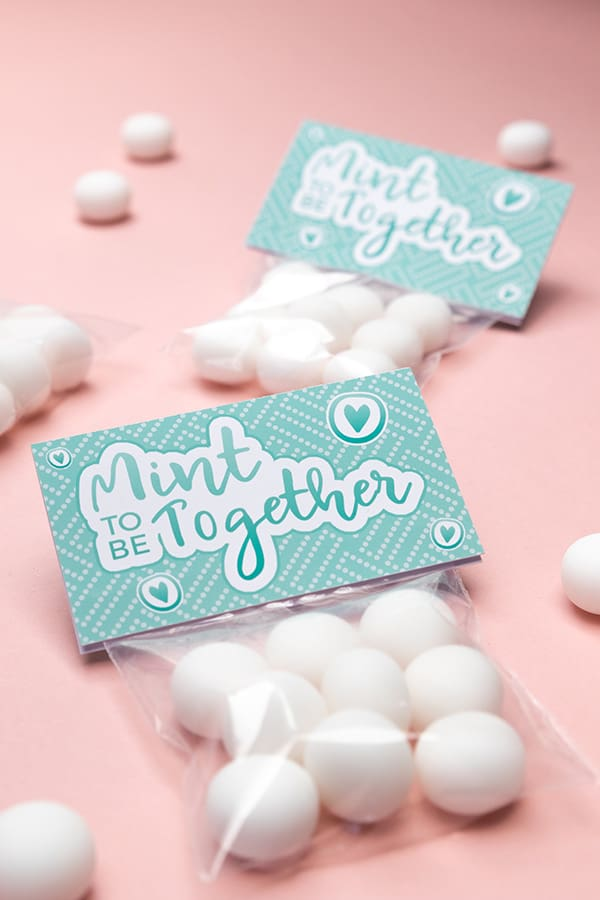"""Mint to be"" funny sweet bags for wedding favors or Valentine's Day gifts."