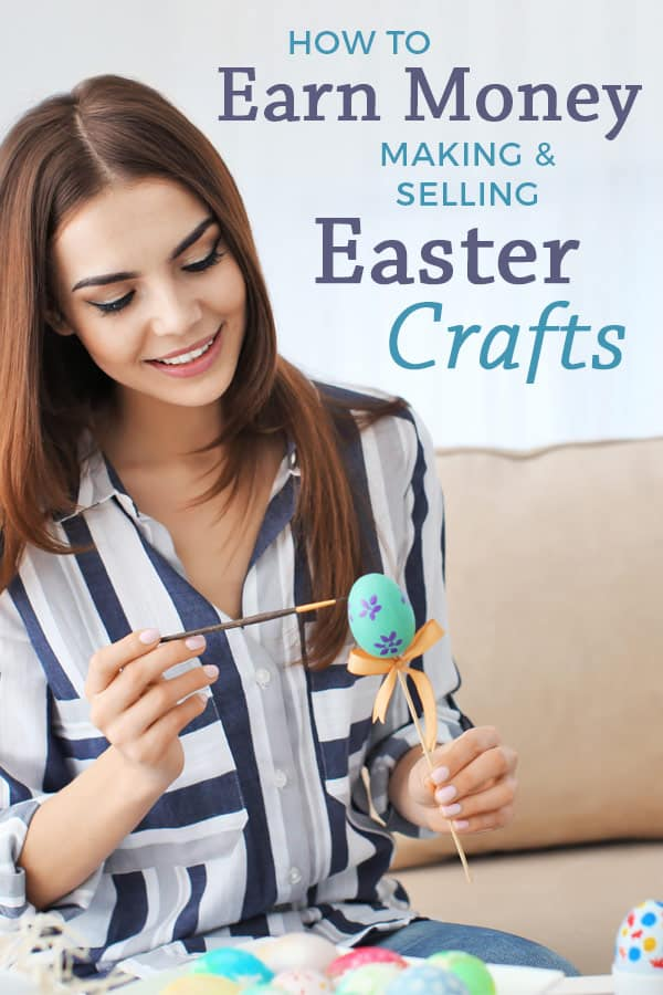 How to make money selling Easter crafts. Learn the best quick & easy DIY Easter crafts to sell at craft shows. Top tips for making money and PROFIT at craft shows. #craftshow #creativebusiness #handmade