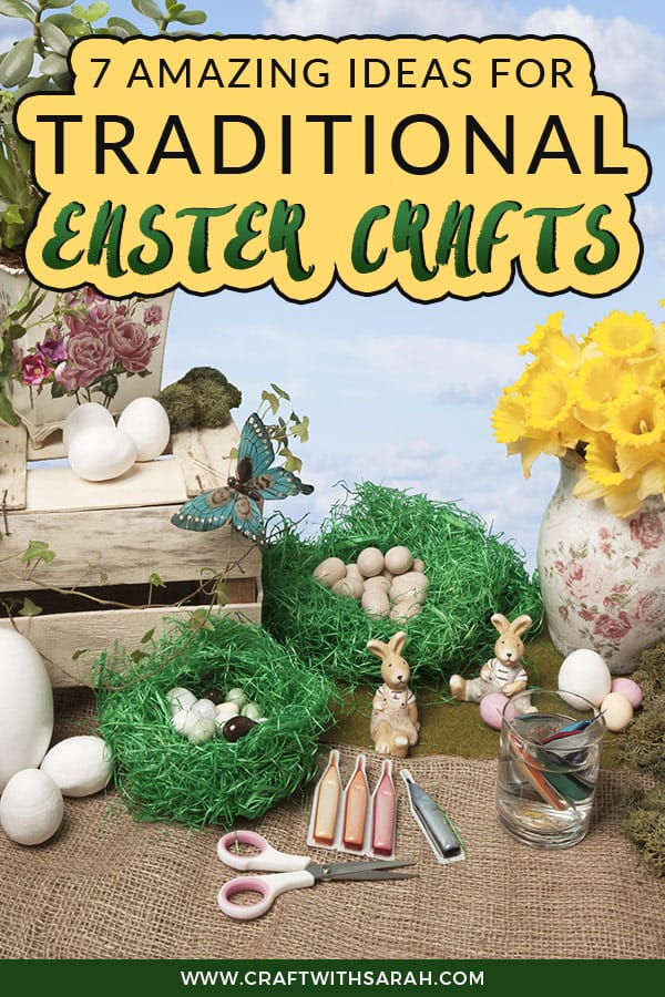 Find traditional Easter craft ideas. From Easter hampers to floral wreaths and blown dyed Easter eggs; discover the traditional Easter crafts that have been enjoyed by families for generations. #easter #crafts