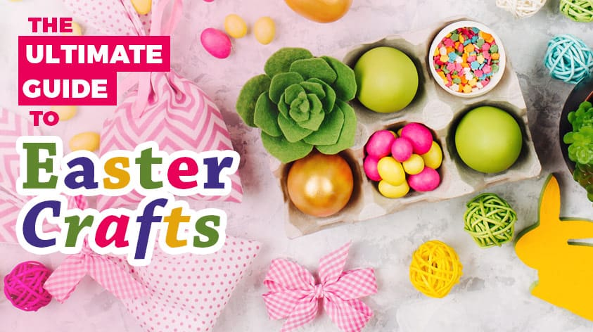 The ultimate guide to DIY Easter Crafts. Everything you need to know about Easter crafts, including over 50 DIY craft ideas for Easter.