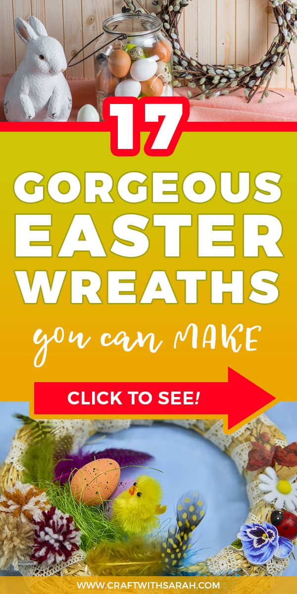 Cheap Easter wreath ideas. Get the best Easter wreath ideas for making a handmade wreath for your front door. The best roundup of Spring wreath ideas for 2019. Find out where to buy wreath making supplies such as polystyrene wreath rings.