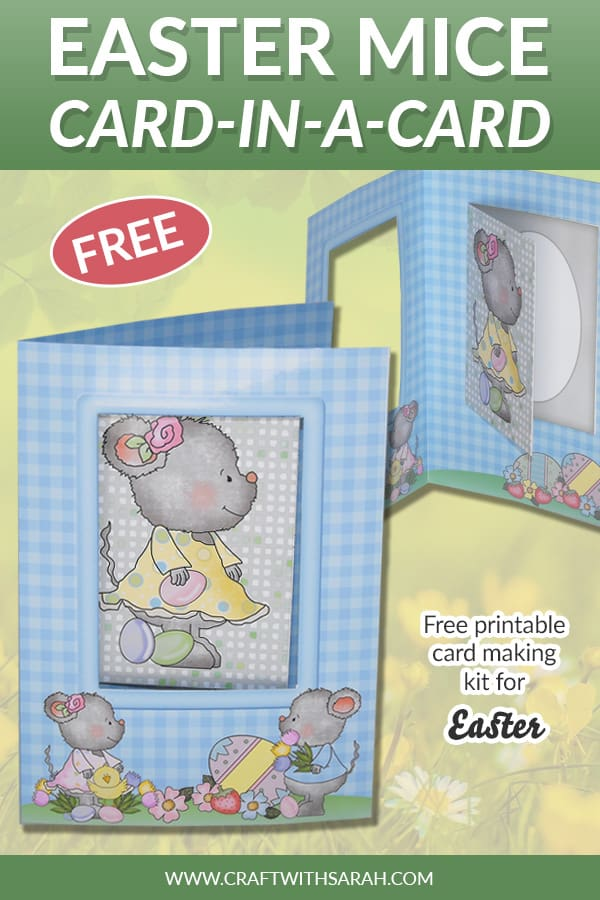 Easter mice card-in-a-card printable kit
