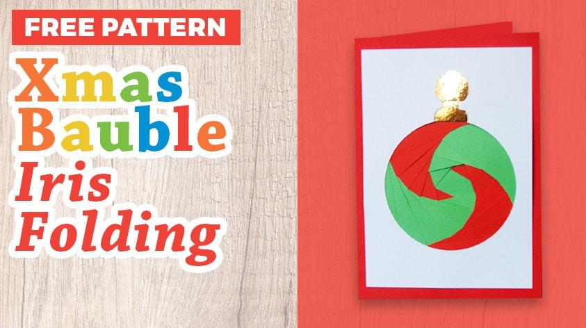 Christmas bauble iris folding free pattern